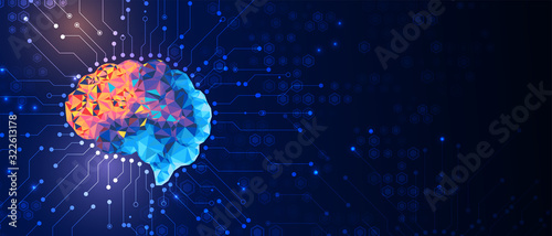 Fotografia Abstract human brain