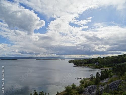 Fotografiet North America, Canada, Province of Nova Scotia, Cape Breton, Bras d'Or Lake