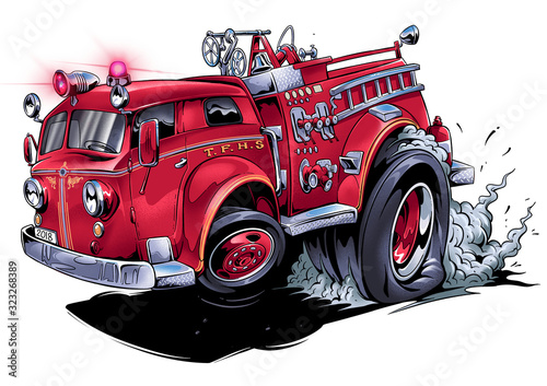 Photo classic fire truck