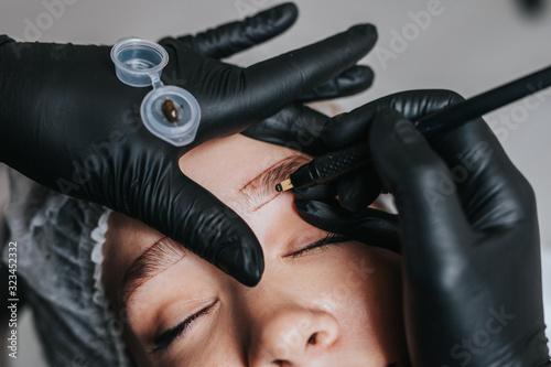 Fotografija Eyebrows microblading concept