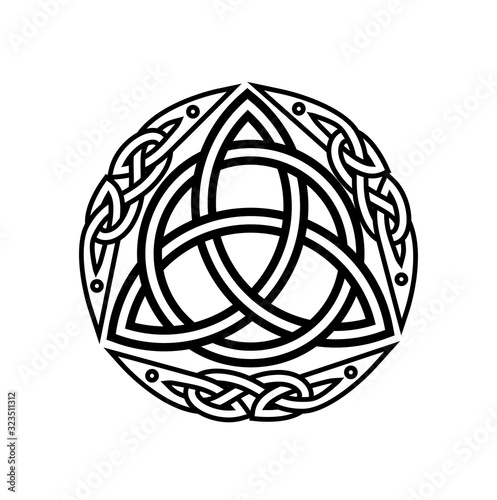 Obraz na plátně Celtic mythological tree sketch on white background