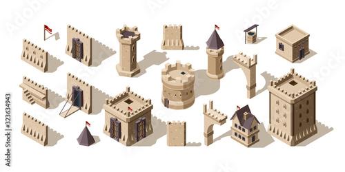 Fototapeta Castles isometric