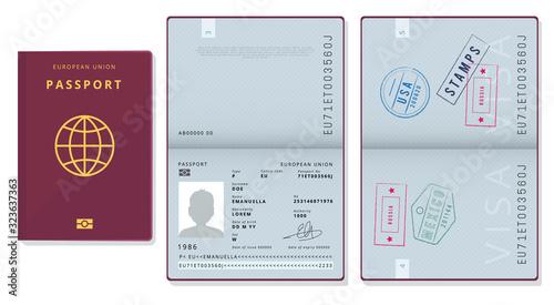 Fotografía Passport template