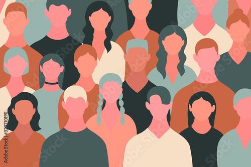 Big crowd concept. Fototapet