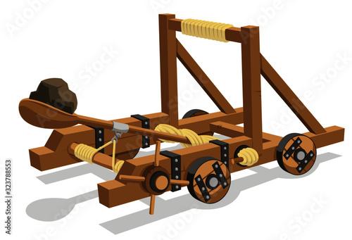 Canvas Print catapult