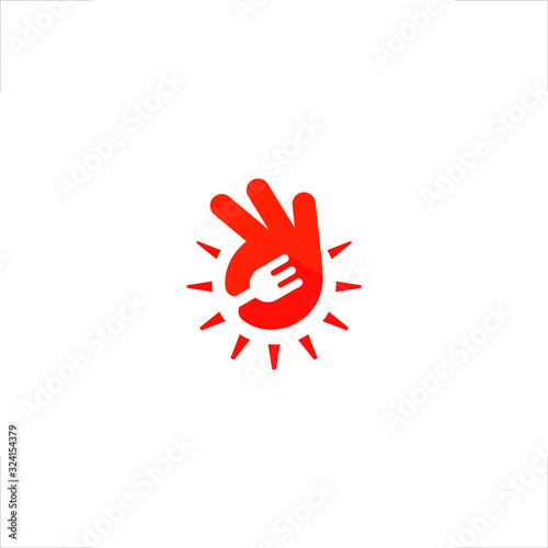 Cuadros en Lienzo ok finger good food logo
