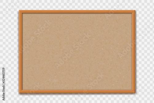 Empty office cork bulletin board template for worksheet Fototapete