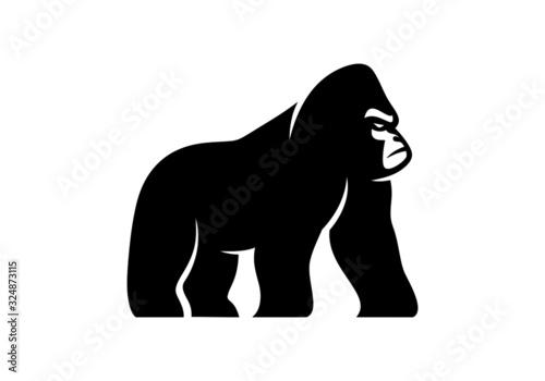 black, gorilla, gorilla logo,strong, monkey,strong, Fototapeta