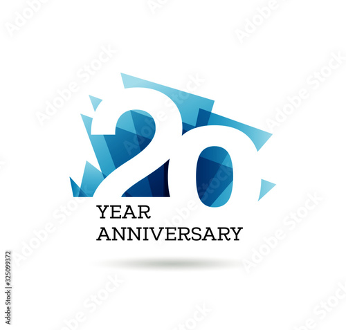 Canvas Print 20th years anniversary label for celebration of company
