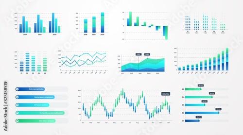 Fotografia Histogram charts