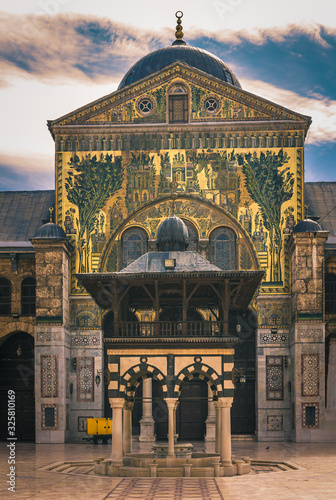 Tela Exterior of Omayad mosque in ancient City of Damascus (Syrian Arab Republic)