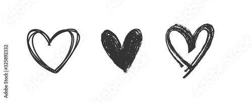 Fotografiet Heart doodles set