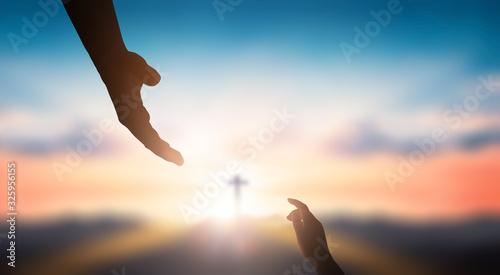 Obraz na płótnie World Day of Remembrance: God's helping hand