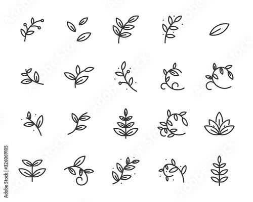 set of sprout icons, leaf, plant, nature, environment Tapéta, Fotótapéta