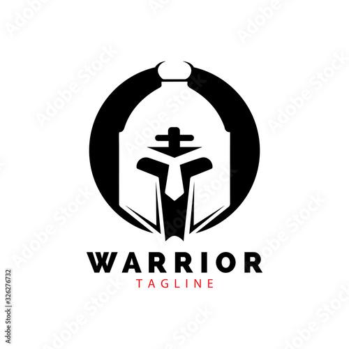 Wallpaper Mural Gladiator mask , Spartan helmet logo template vector icon design