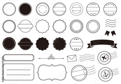 消印やフレームのイラスト素材 Tapéta, Fotótapéta