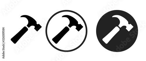 Obraz na plátně hammer icon . web icon set .vector illustration