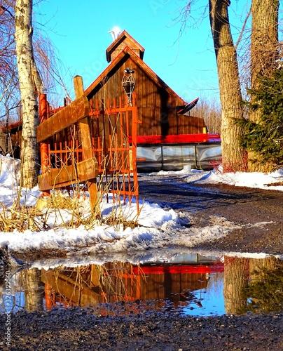 Tablou Canvas North America, Canada, Province of Quebec, sugar shack