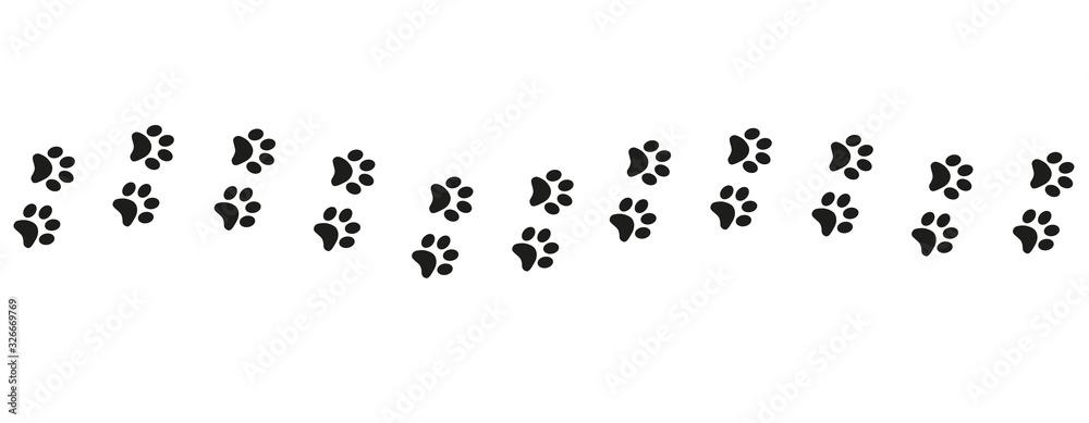 Track of cat dog tracks, footprint, design <span>plik: #326669769 | autor: MichiruKayo</span>