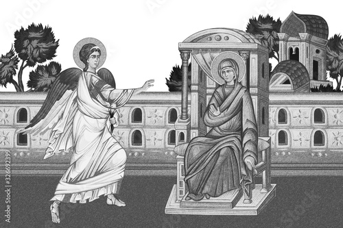 Obraz na plátně Annunciation to the Blessed Virgin Mary