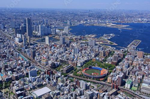 Fotomural 横浜市全景・横浜港・空撮