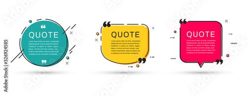 Obraz na plátně Quote frames templates set. Vector illustration