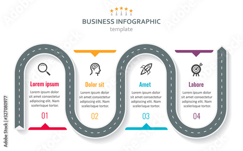 Photo Vector infographic template