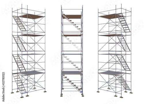 Photo scaffolding isolated on white