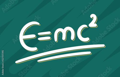 Wallpaper Mural hand drawn e = mc2 formula