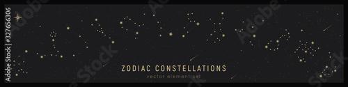 Foto Set of zodiac constelattions
