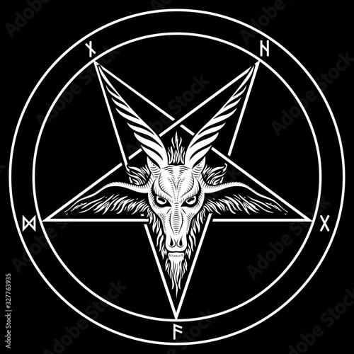Canvas Print The pentagram, the sign of Lucifer