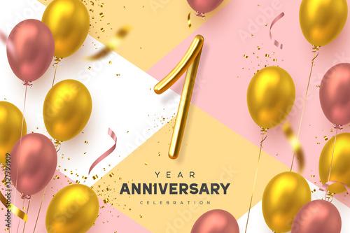 Fotografia 1 year anniversary celebration banner