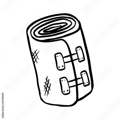 Foto Elastic bandage doodle vector image