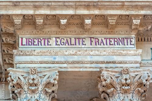 Photo Liberté, égalité, fraternité