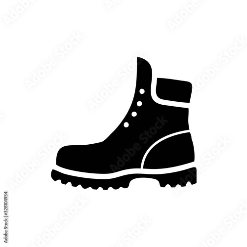Fotografiet Boots icon template black color editable