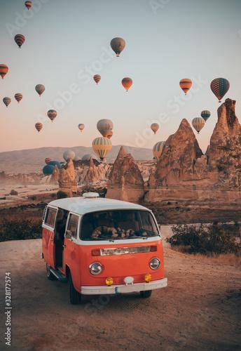 Canvas Print cappadocia and a van