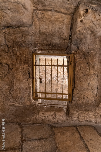 Fototapeta The prison of Barabbas in Jerusalem