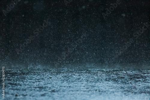 Canvas Print 土砂降りの雨