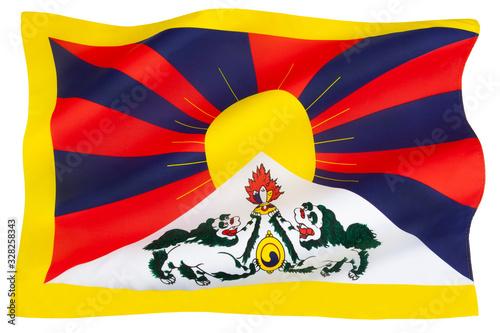 Tibetan flag - Flag of Tibet Fototapeta