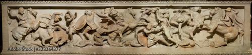 Fotografie, Obraz Great Alexander's Sarcophagus in Istanbul Archaeology Museum, Turkey