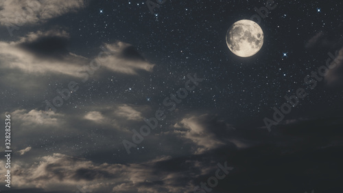 Canvas Print full moon in the sky