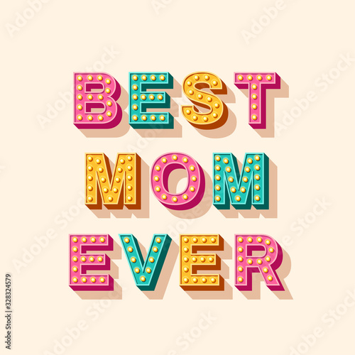 Canvas-taulu Happy Mother's Day card or banner