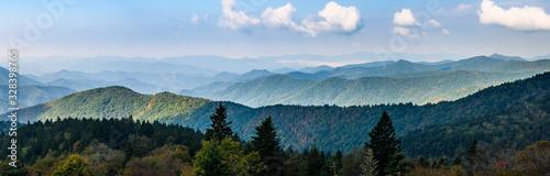 Fotografia Autumn in the Appalachian Mountains Viewed Along the Blue Ridge Parkway