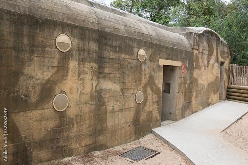 Fototapeta German second world war bunker in Cap Ferret, Gironde, France.