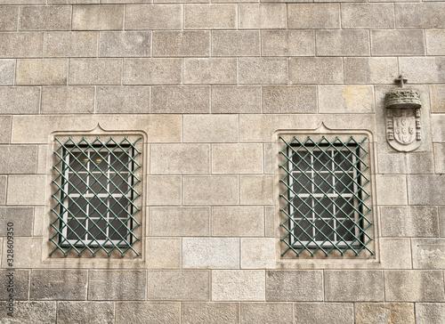 Obraz na plátne Windows of Historic Casa do Infante in Porto