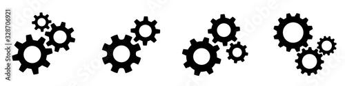 Obraz na płótnie Setting gears icon