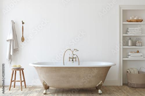 Foto Bathroom interior. 3d render.