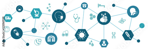 Obraz na płótnie Сorona virus infographic illustration