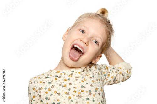 Funny Little Girl Fototapeta