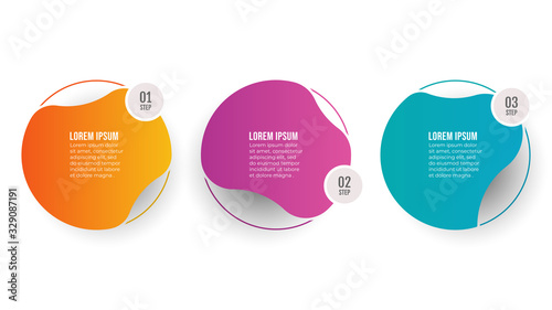 Leinwand Poster Vector Infographic template label design with circles